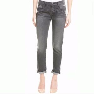 7FAM Josefina Skinny Boyfriend Distressed Jeans